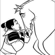 Khan, o lindo garanhão preto da Mulan