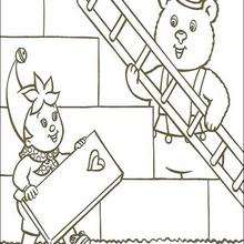 O urso Rechonchudo ajudando Noddy