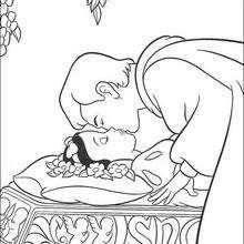 O Príncipe beijando a Branca de Neve