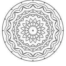 Desenho de Mandala Gratuito para colorir
