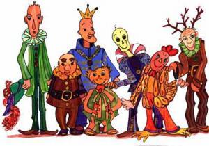 Ilustração de extraterrestres