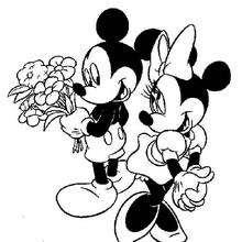 Desenhos Para Colorir De Mickey E Minnie Apaixonados Pt Hellokids Com