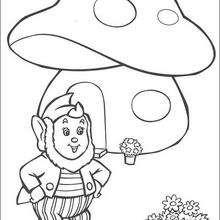 Orelhas recebe flores, para colorir