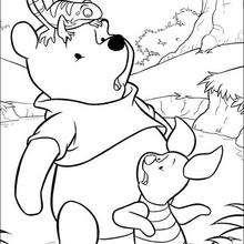 O Ursinho Puff com o Leitão