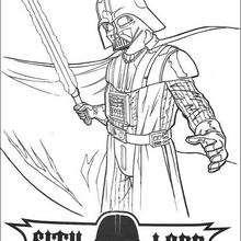 Darth Vader com uma espada a laser