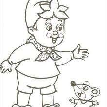 Noddy e o rato Relojoeiro, para colorir