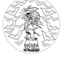 Mandala do Dia das Bruxas