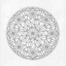 Lindo Mandala florido para colorir