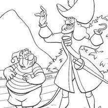 Capitão Gancho e o Sr. Smee