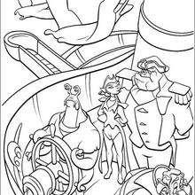 Todos a bordo do navio Hispaniola, para colorir