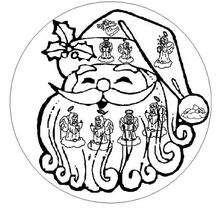 Mandala do papai noel e seus anjinhos