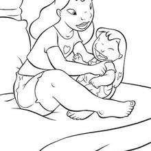 Lilo com sua mamãe