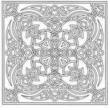 Mandala quadrado para colorir