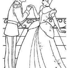 Desenhos Para Colorir De Cinderela Com O Principe Encantado Pt