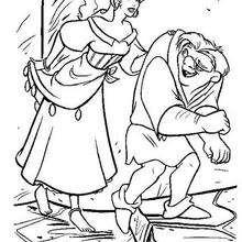 Colorindo Quasímodo e Esmeralda