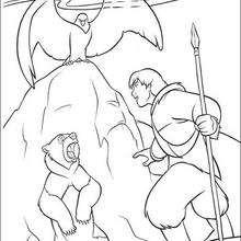 Desenho do Kenai com seu irmão Denahi para colorir