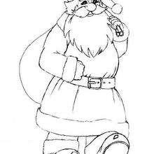 Desenho de Feliz Natal para colorir