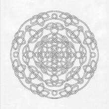 Mandala dificil para colorir GRATIS