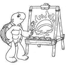 Franklin pintando