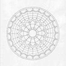 Mandala da flor de LIS para colorir