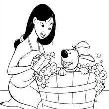 Mulan com seu lindo cachorrinho