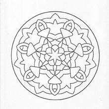Mandala simples para colorir GRATIS