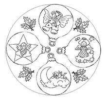 Mandala dos anjinhos para colorir