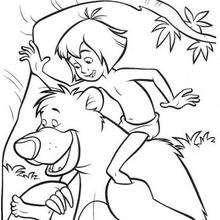 Mogli, o Menino Lobo e seu amigo o urso Balu