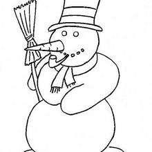 Colorindo o boneco de neve