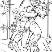 Han Solo com o Chewbacca para colorir