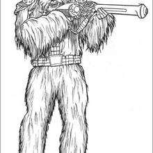 Wookie com uma arma