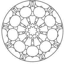 Mandala com formas circulares para colorir