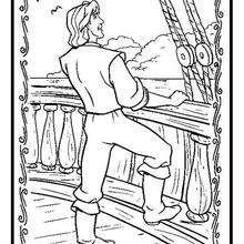 Desenho do capitão ohn Smith para colorir J