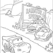 Carros: Relâmpago Mcqueen na corrida