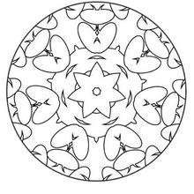 Mandala de estrela e gotas para colorir