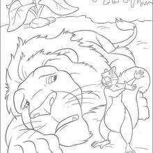 Sansão e o esquilo para colorir GRATIS