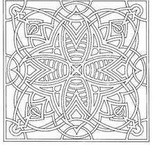 Mandala quadrado dificil para colorir