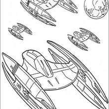 A nave espacial da Federação do Comércio