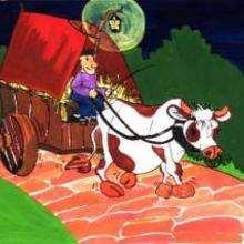 Vaca e fazendeiro