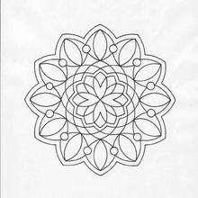 Mandala com forma de flor para colorir