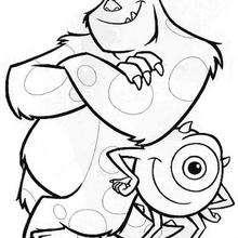 Os melhores amigos: Mike e Sulley