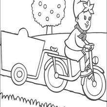 bicicleta, Colorindo Noddy trabalhando