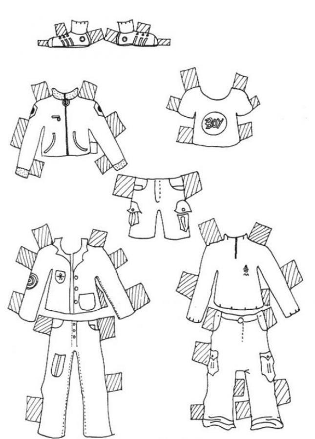 desenhos para colorir de desenho de roupas do menino modelo para
