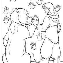 O urso Kenai com o seu irmão Denahi