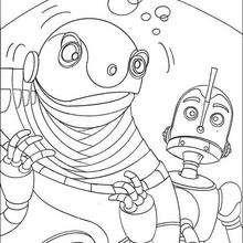 Desenho do Rodney com o Grande Soldador para colorir