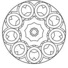 Mandala com circulos para colorir