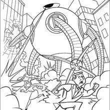 Um monstro atacabdo a cidade