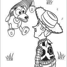 Woody e o cachorro de brinquedo