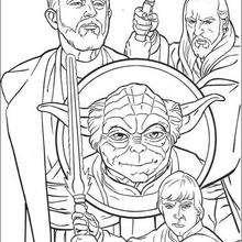 Os guerreiros Jedi e o Yoda