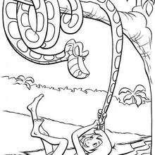 A cobra Kaa e Mogli